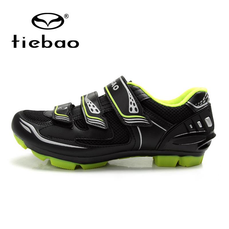 รองเท้าจักรยานเสือภูเขา TIEBAO รุ่น TB15-B1255 สีดำเขียว