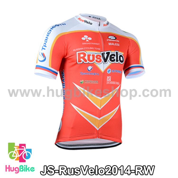 เสื้อจักรยานแขนสั้นทีม RusVelo 2014 สีแดงขาว สั่งจอง (Pre-order)