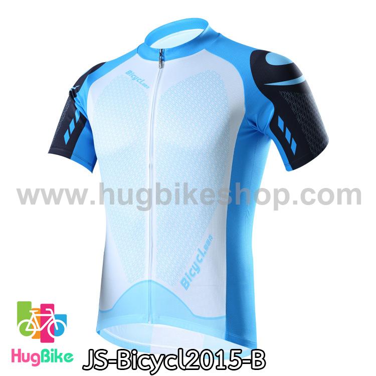 เสื้อจักรยานแขนสั้นทีม Bicycl 2015 สีฟ้า สั่งจอง (Pre-order)