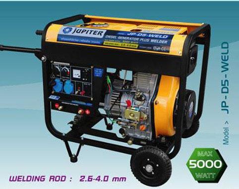เครื่องยนต์ปั่นไฟดีเซล+เครื่องเชื่อม JUPITER รุ่น JP-D5-WELD