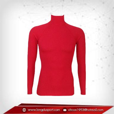Body Fit / Base Layer เสื้อรัดรูป คอตั้ง แขนยาว สีแดง Red