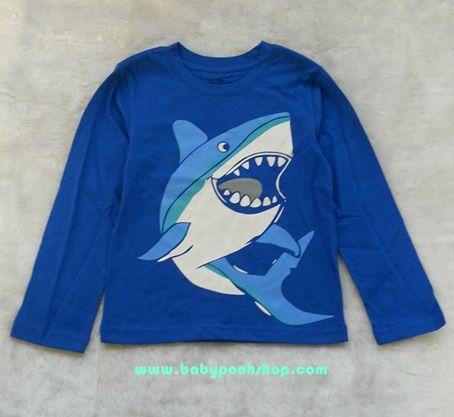 baby Gap : เสื้อยืดสกรีนลายฉลาม size 2T