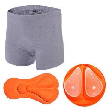 กางเกงจักรยาน Boxer VeoBike กางเกงสีเทา เป้าเจลสีส้ม สั่งจอง (Pre-order)