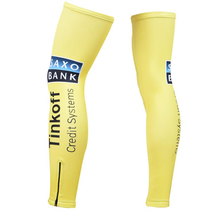 ปลอกขาทีม Tinkoff SAXO 2014 สีเหลือง