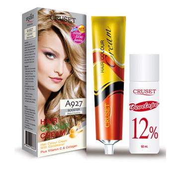 ครูเซ็ท ครีมย้อมผม รุ่น A เอ 927 สีเพิ่มความสว่าง Cruset Hair Colour Cream A Series A 927 Booster 60 ml.