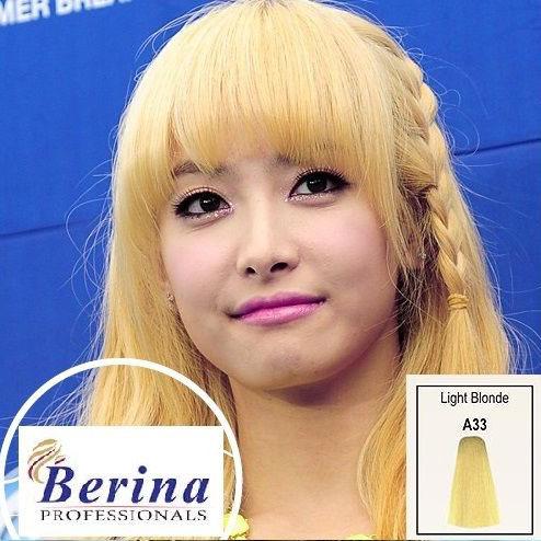 เบอริน่า ครีมย้อมผม A33 สีบลอนด์อ่อน Light Blonde 60 g.