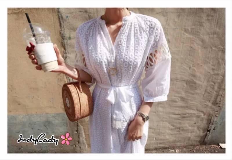 Maxi Dress สีขาว
