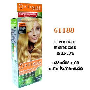 ดีแคช ออพติมัส คัลเลอร์ ครีม Optimus color Cream G1188 Super Light Blonde Gold Intensive บลอนด์อ่อนมากพิเศษประกายทองจัด 100 ml.