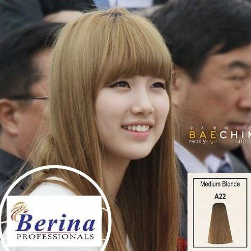 เบอริน่า ครีมย้อมผม A22 สีบลอนด์กลาง Medium Blonde 60 g.
