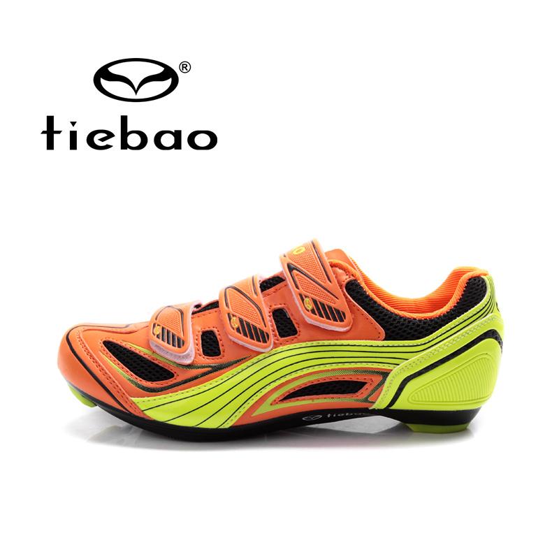 รองเท้าจักรยานเสือหมอบ TIEBAO รุ่น TB16-B1235 สีส้มเหลือง