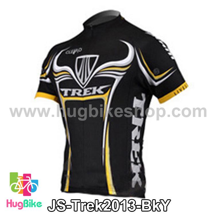เสื้อจักรยานแขนสั้นทีม Trek 13 สีดำเหลือง สั่งจอง (Pre-order)
