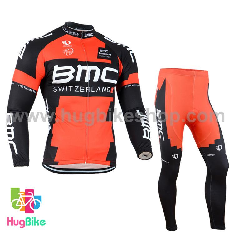ชุดจักรยานแขนยาวทีม BMC 14 สีแดงดำ สั่งจอง (Pre-order)