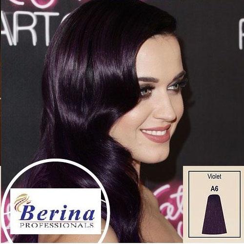 เบอริน่า ครีมย้อมผม A6 สีม่วง Violet 60 g.