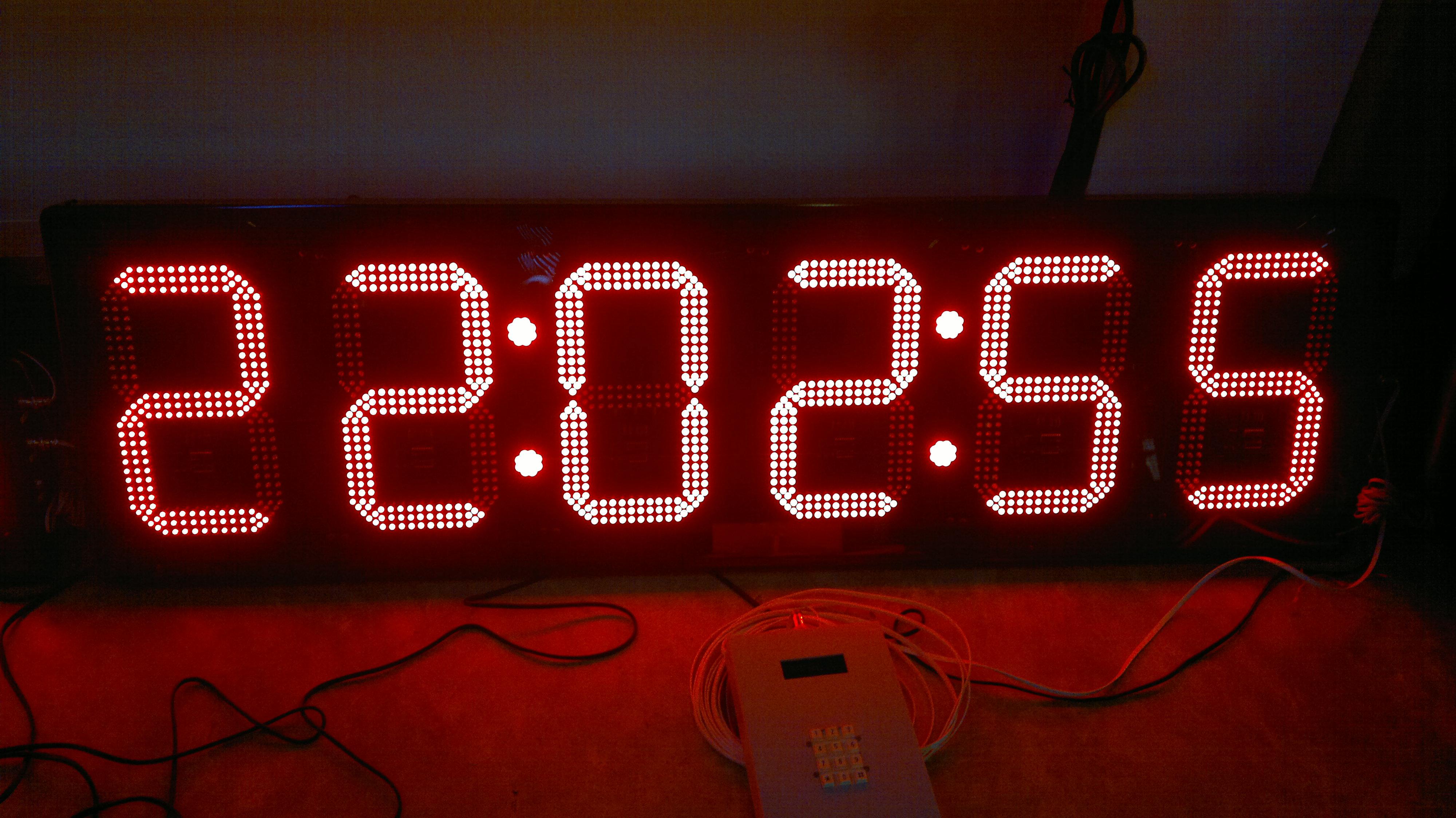 นาฬิกาดิจิตอลLED 12นิ้ว 6หลัก