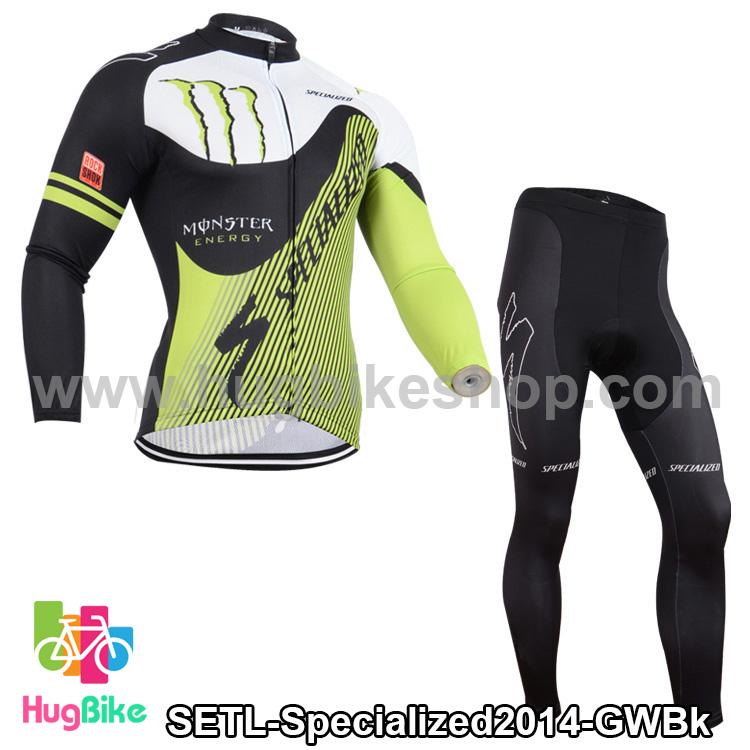 ชุดจักรยานแขนยาวทีม Specialized 14 สีเขียวดำ สั่งจอง (Pre-order)