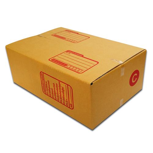 กล่องไปรษณีย์ฝาชนเบอร์ C (ขนาด ค) ขนาด 20 X 30 X 11 cm. ใบละ 4.5 บาท