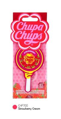 (1 แถม 1) Chupa Chups แผ่นน้ำหอม Lollipop กลิ่น Strawberry Cream
