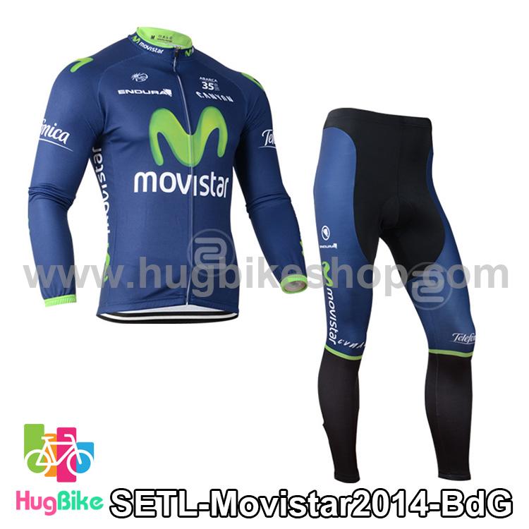 ชุดจักรยานแขนยาวทีม Movistar 14 สีน้ำเงิน สั่งจอง (Pre-order)