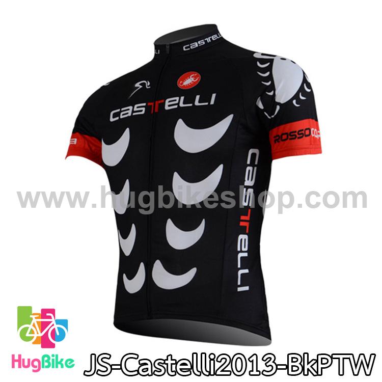 เสื้อจักรยานแขนสั้นทีม Castelli 2013 สีดำลายขาว สั่งจอง (Pre-order)