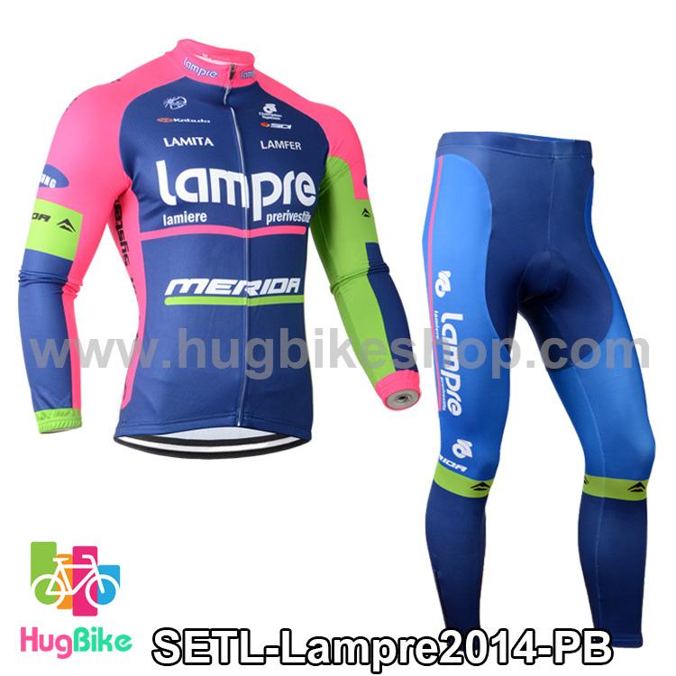 ชุดจักรยานแขนยาวทีม Lampre 14 สีชมพูน้ำเงิน สั่งจอง (Pre-order)