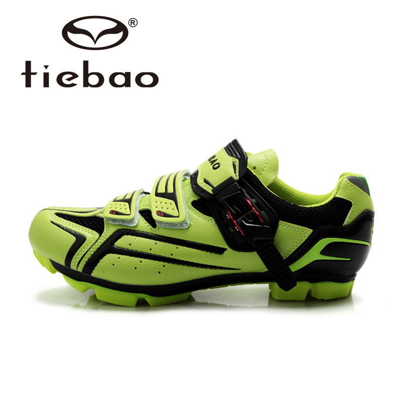 รองเท้าจักรยานเสือภูเขา TIEBAO รุ่น TB15-B1268 สีเขียวดำ ตัวรัดออโต้