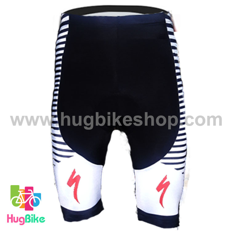 กางเกงจักรยานขาสั้นทีม Specialized 16 (10) สีดำขาวแดง