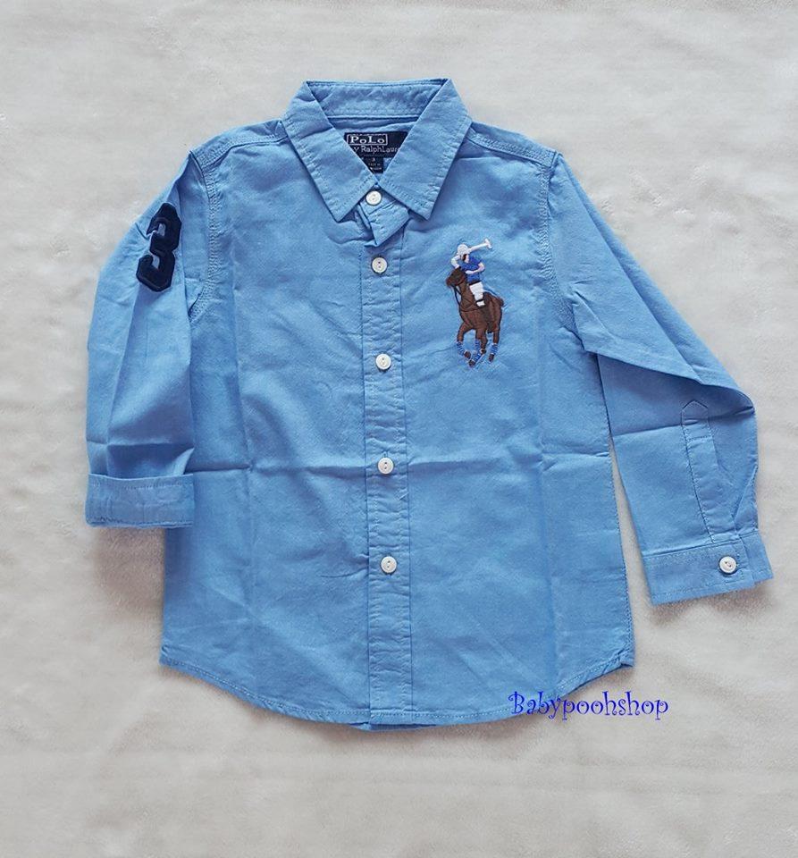 เสื้อเชิ๊ต POLO สีฟ้า size : 1 / 4 / 6 / 7