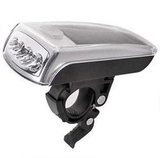 ไฟหน้าจักรยาน ชาร์ตพลังงานแสงอาทิตย์+USB ไฟ 4 LED รุ่น XC-990