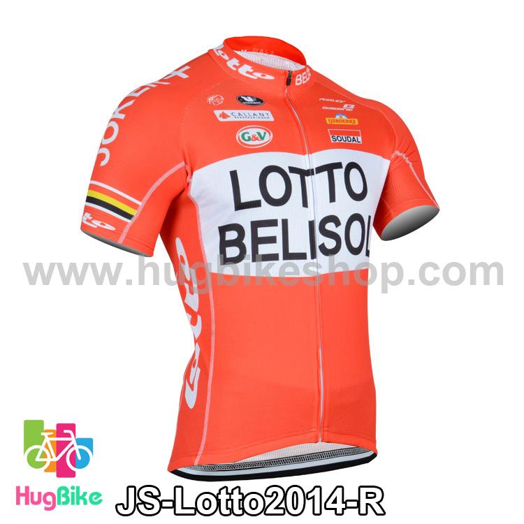 เสื้อจักรยานแขนสั้นทีม Lotto Belisol 2014 สีแดง สั่งจอง (Pre-order)