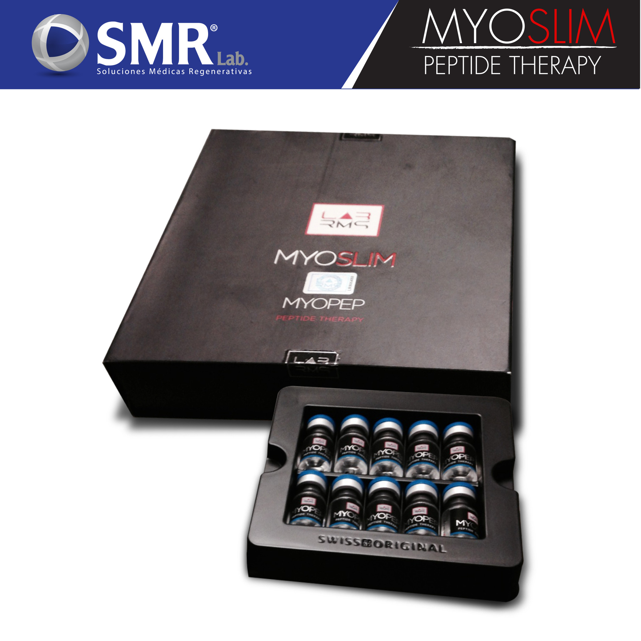 MYOPEP MYOSLIM INJECTABLES - MUSCULAR MASS INCREASE This peptide helps with the increase of corporal mass. Amount: 10 vials x 2 ml