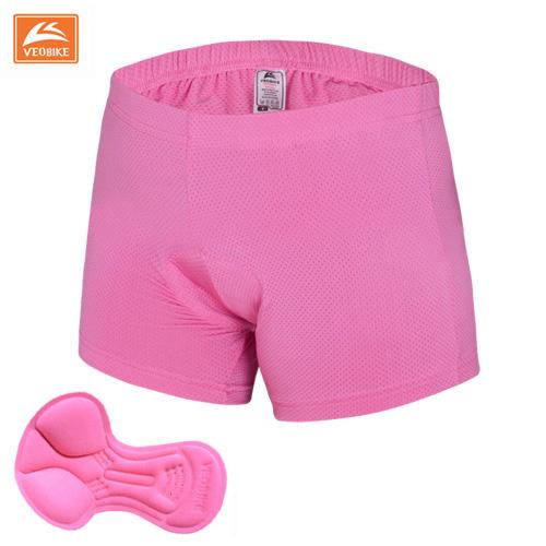 กางเกงจักรยาน Boxer VeoBike กางเกงสีชมพู เป้าเจลสีชมพู เป้าสำหรับผู้หญิง