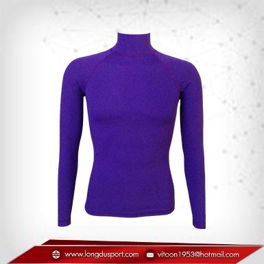 Body Fit / Base Layer เสื้อรัดรูป คอตั้ง แขนยาว สีม่วง blueviolet