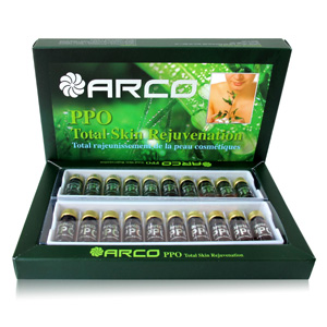 Arco PPO Total Skin Rejuvenation ผลิตภัณฑ์อาหารเสริมจากรกพืชชนิดรับประทาน 20Amps.