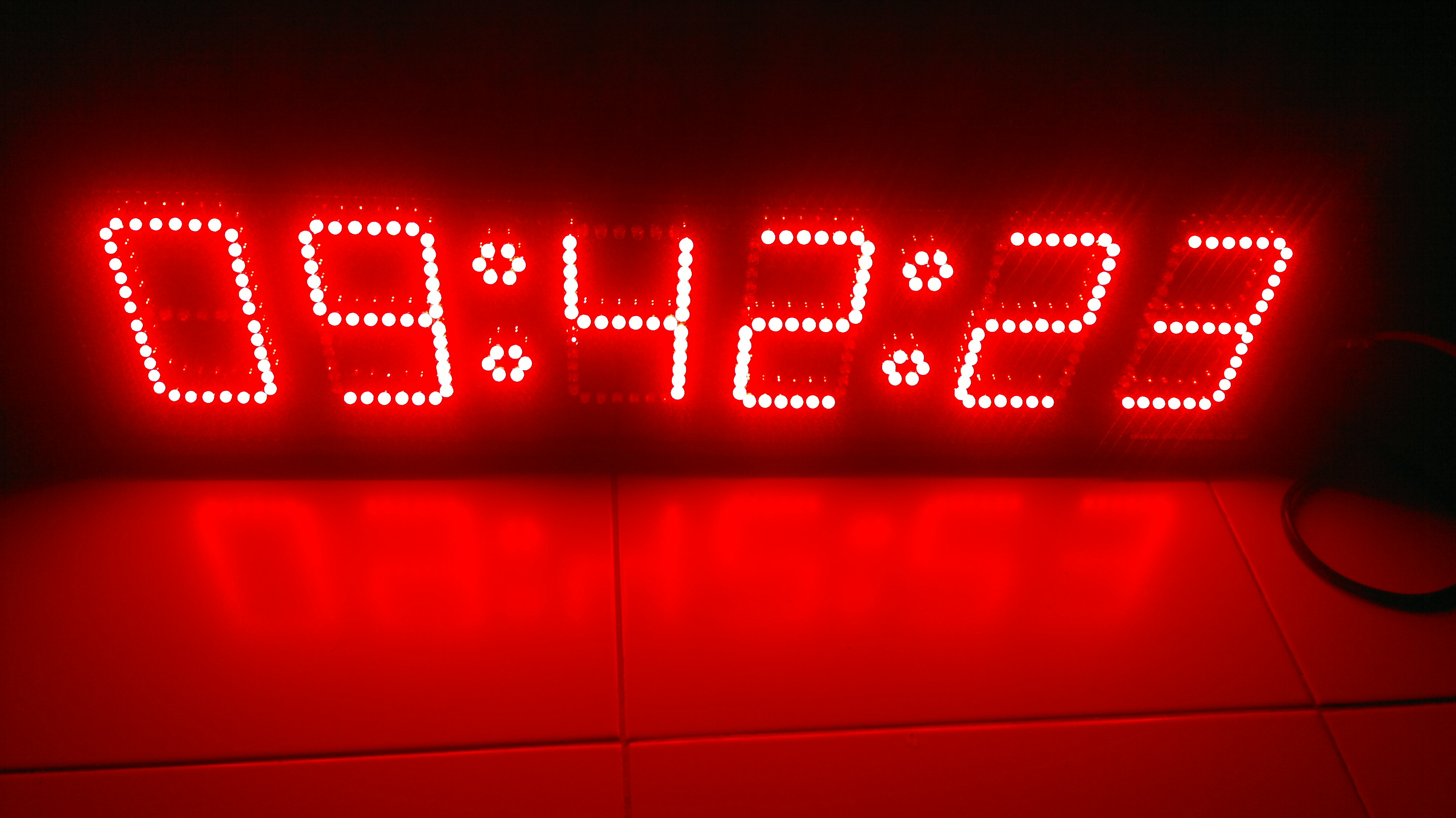 นาฬิกาดิจิตอลLED 5นิ้ว 6หลัก