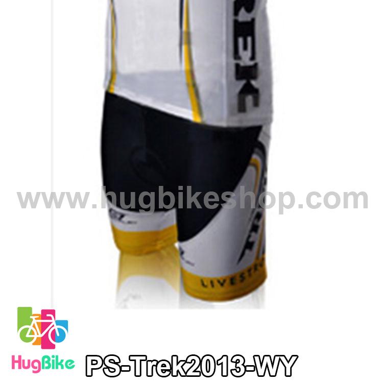 กางเกงจักรยานขาสั้นทีม Trek 13 สีดำขาวเหลือง สั่งจอง (Pre-order)