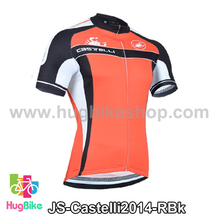 เสื้อจักรยานแขนสั้นทีม Castelli 2014 สีแดงดำ สั่งจอง (Pre-order)