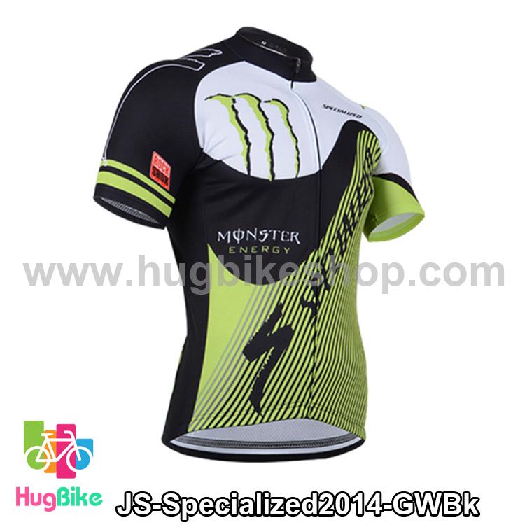 เสื้อจักรยานแขนสั้นทีม Specialized 14 สีเขียวขาวดำ สั่งจอง (Pre-order)