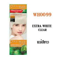 ดีแคช ออพติมัส คัลเลอร์ ครีม Optimus color Cream WH0099 Extra White Clear แม่สีขาว 100 ml.