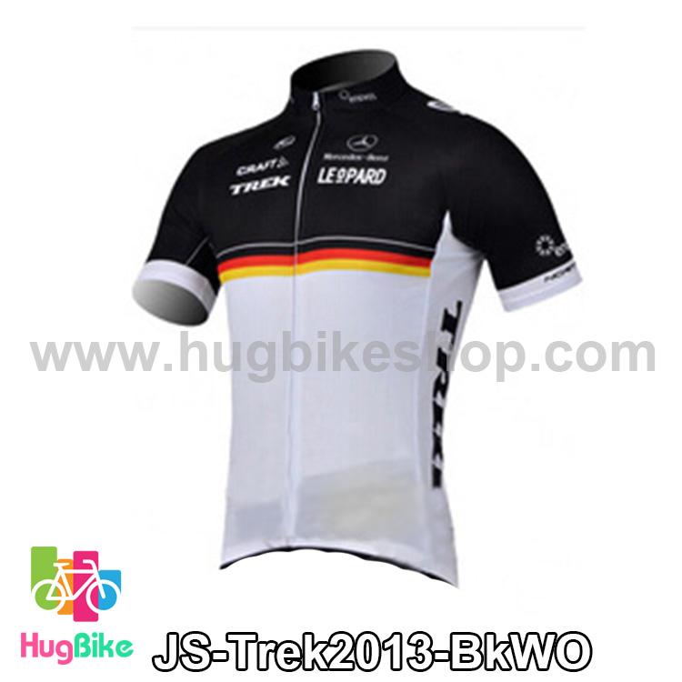 เสื้อจักรยานแขนสั้นทีม Trek 13 สีดำขาวส้ม สั่งจอง (Pre-order)