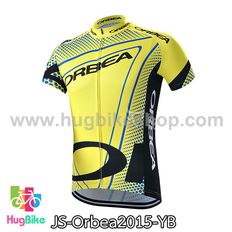 เสื้อจักรยานแขนสั้นทีม Orbea 2015 สีเหลืองน้ำเงิน สั่งจอง (Pre-order)