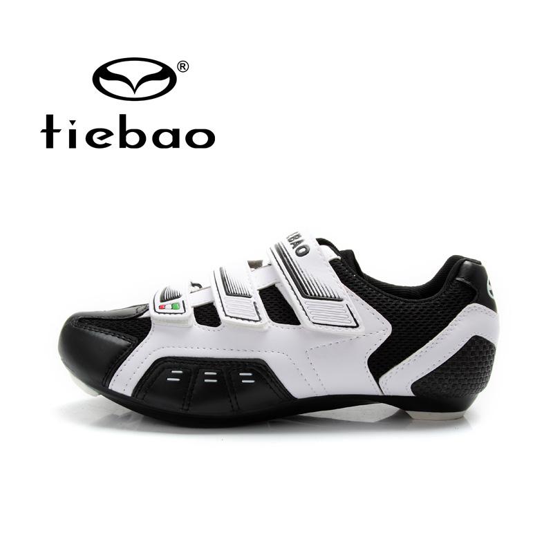 รองเท้าจักรยานเสือหมอบ TIEBAO รุ่น TB02-B943 สีขาวดำ