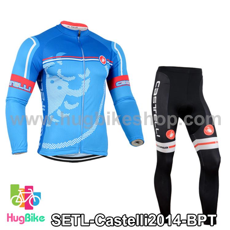 ชุดจักรยานแขนยาวทีม Castelli 14 สีฟ้าลาย สั่งจอง (Pre-order)
