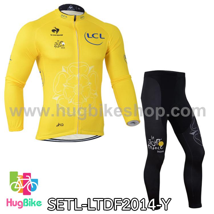 ชุดจักรยานแขนยาว Le tour de france 14 สีเหลือง สั่งจอง (Pre-order)