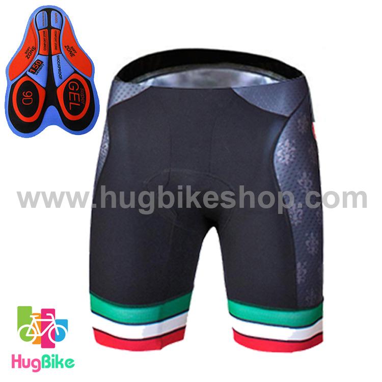 กางเกงจักรยานขาสั้นทีม Castelli 16 (06) สีดำ