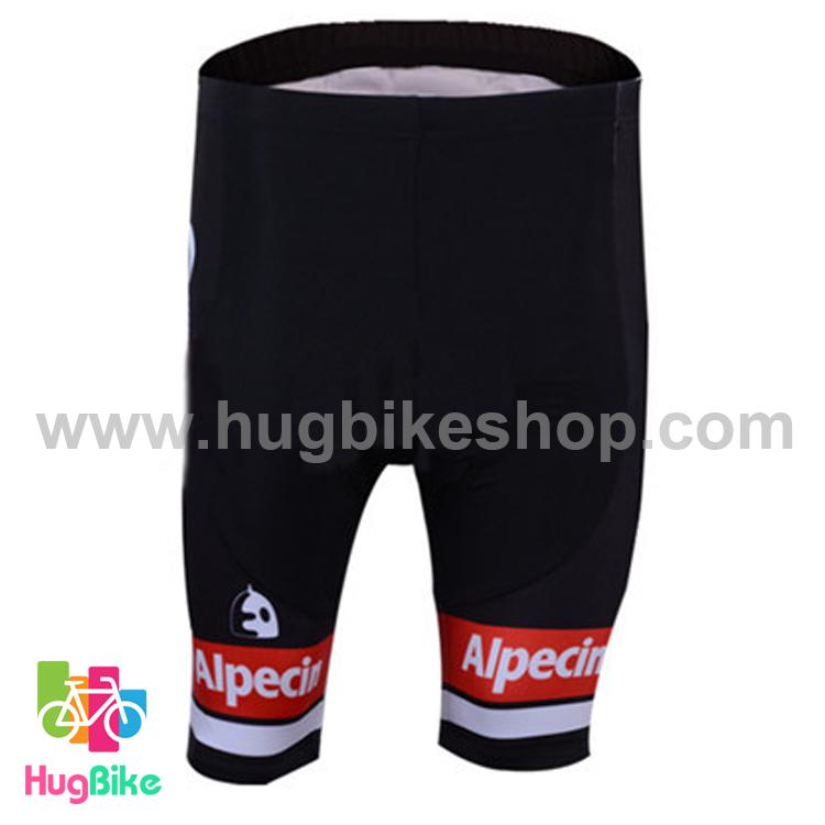 กางเกงจักรยานขาสั้นทีม Giant 16 (01) สีขาวดำแดง