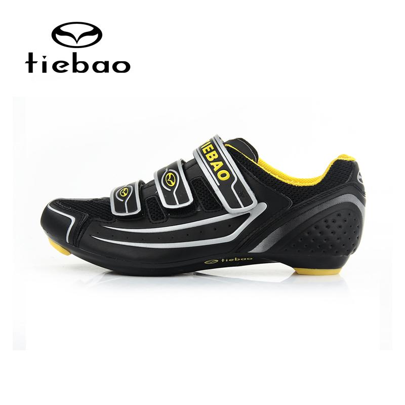 รองเท้าจักรยานเสือหมอบ TIEBAO รุ่น TB16-B1230 สีดำขาวเหลือง