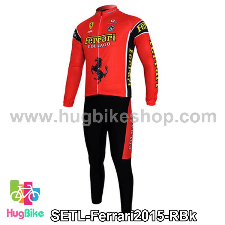 ชุดจักรยานแขนยาวทีม Ferrari 15 สีแดง สั่งจอง (Pre-order)