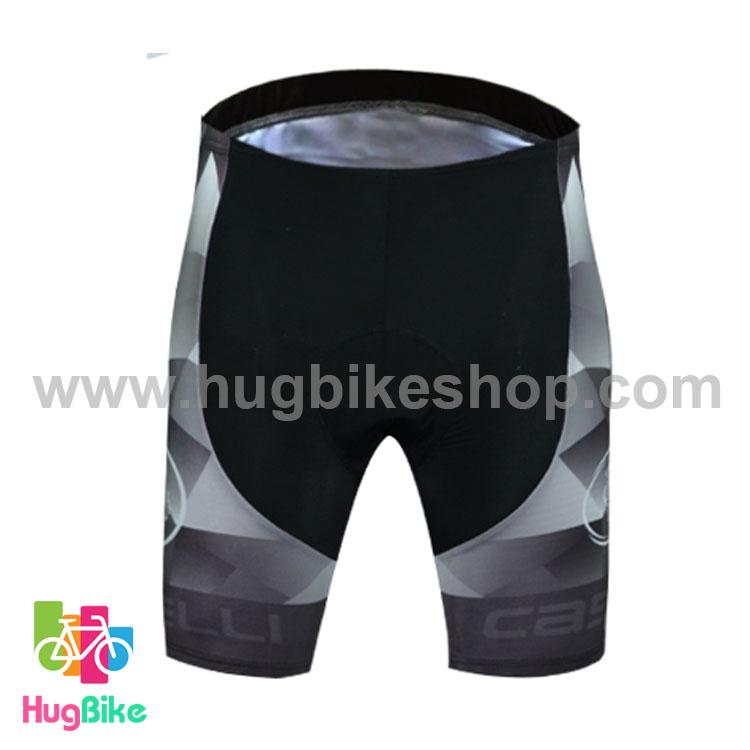 กางเกงจักรยานขาสั้นทีม Le tour de france 16 (08) สีดำ