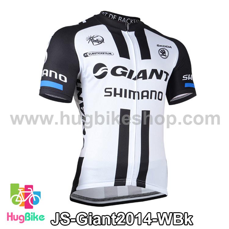 เสื้อจักรยานแขนสั้นทีม Giant 2014 สีขาวดำ สั่งจอง (Pre-order)