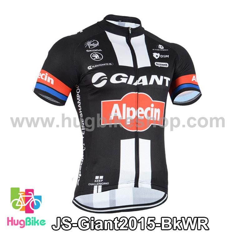 เสื้อจักรยานแขนสั้นทีม Giant 2015 สีดำขาวแดง สั่งจอง (Pre-order)